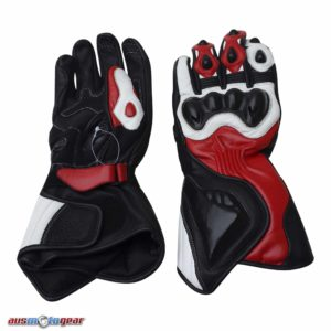 Motorbike Leather Gloves Red