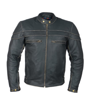 leather jacket cafe racer