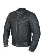 leather jacket cafe racer side