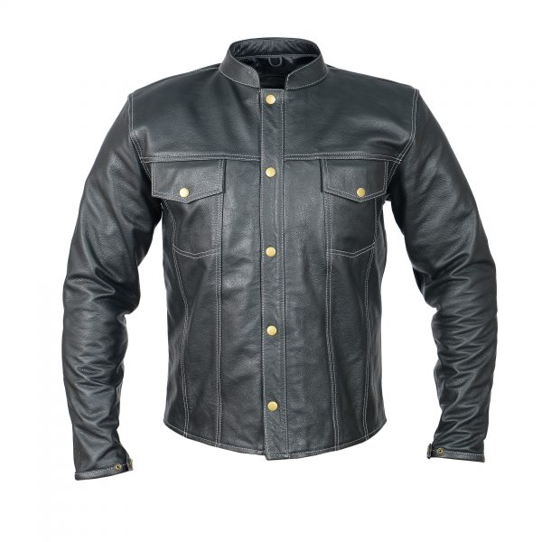 leather jacket straight fit