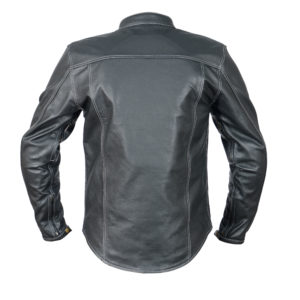 leather jacket straight fit back