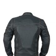 leather jacketcafe racer back